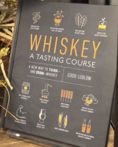 brown book with whiskey title